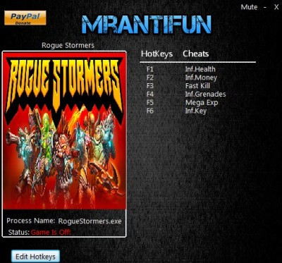 Rogue Stormers (2016) cheats