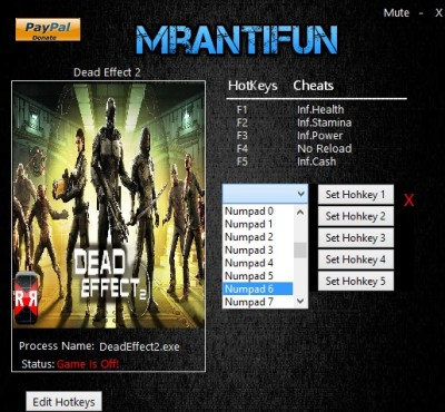 Dead Effect 2 cheats