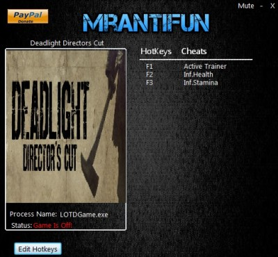 Deadlight Director's Cut cheats