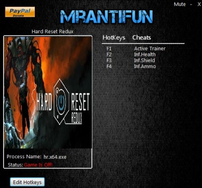Hard Reset Redux cheats
