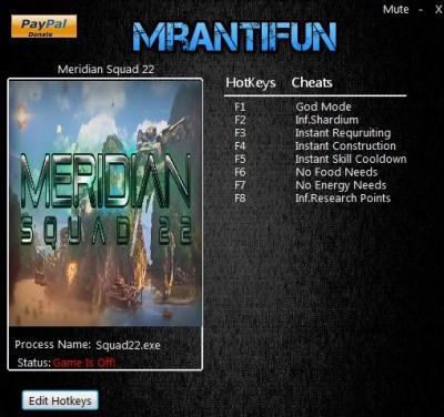 Meridian Squad 22 cheats