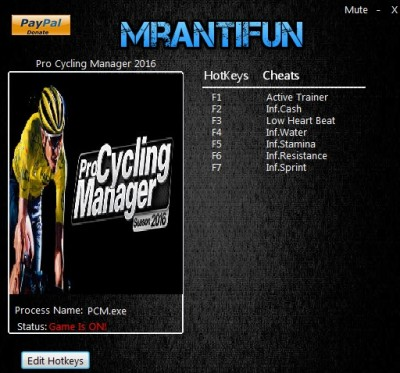 Pro Cycling Manager 2016 cheats