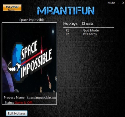 Space Impossible cheats