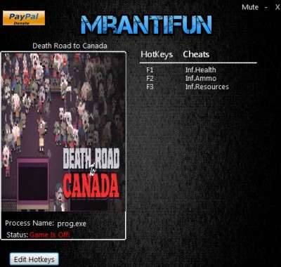 Death Road to Canada cheats