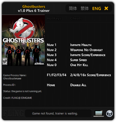 Ghostbusters cheats