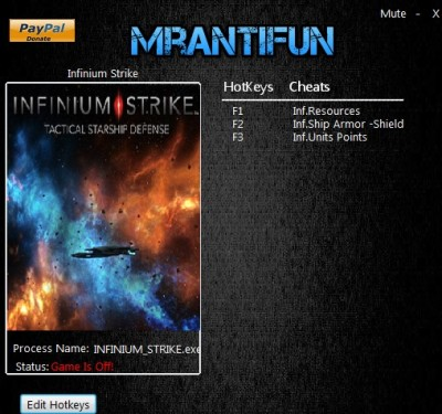 Infinium Strike cheats