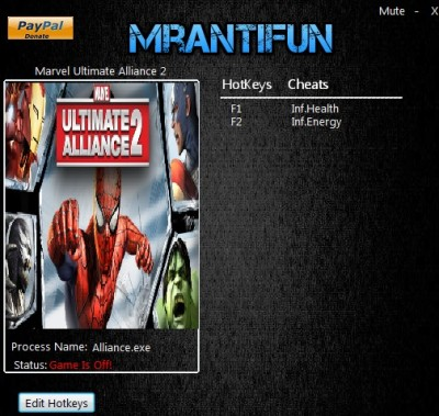 Marvel Ultimate Alliance 2 cheats