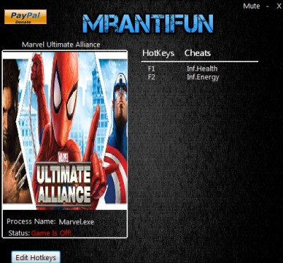 Marvel Ultimate Alliance cheats