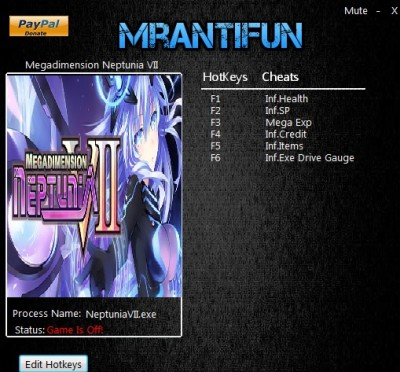 Megadimension Neptunia VII cheats