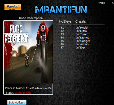 Road Redemption  cheats