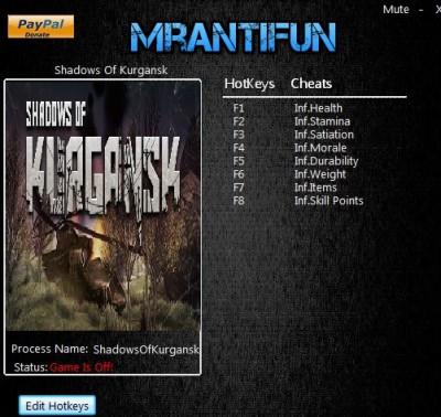 Shadows Of Kurgansk cheats