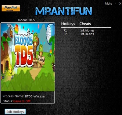 Bloons TD 5 cheats