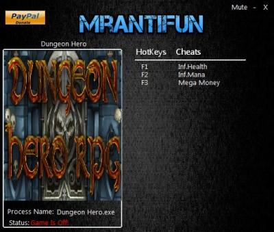 Dungeon Hero cheats