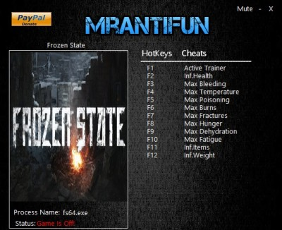 Frozen State cheats