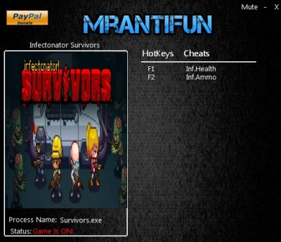 Infectonator Survivors (2016) cheats
