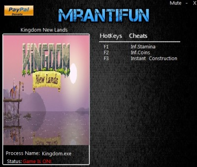 Kingdom New Lands cheats