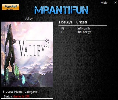 Valley (2016) cheats