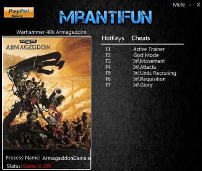 Warhammer 40000 Armageddon - Da Orks cheats