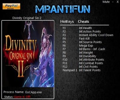 Divinity Original Sin 2 trainer