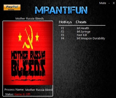 Mother Russia Bleeds cheats