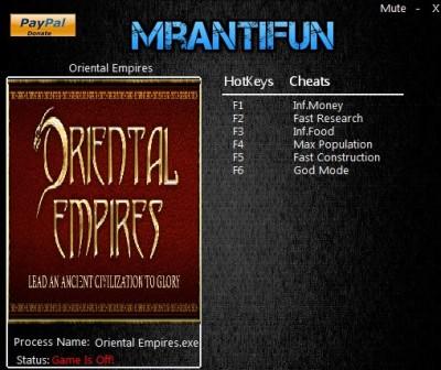 Oriental Empires trainer