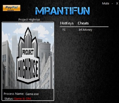 Project Highrise cheats