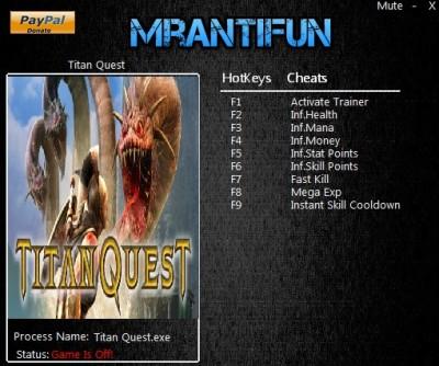 Titan Quest Anniversary Edition  cheats