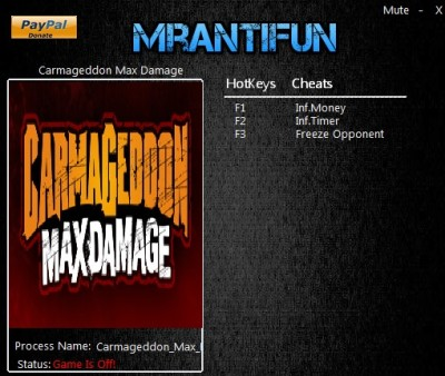 Carmageddon Max Damage cheats