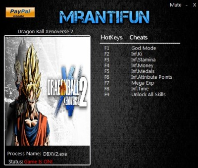 Dragon Ball Xenoverse 2 pc cheats
