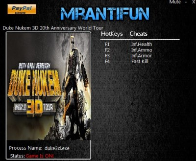 Duke Nukem 3D 20th Anniversary World Tour cheats