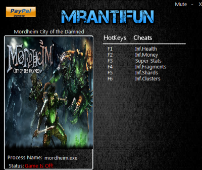 Mordheim City of the Damned cheats