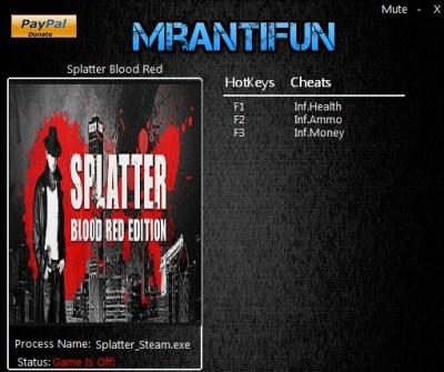 Splatter Blood Red Edition cheats