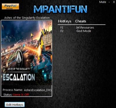Ashes of the Singularity Escalation cheats