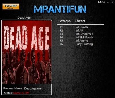 Dead Age cheats