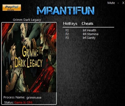 Grimm Dark Legacy cheats