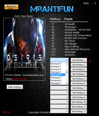 Osiris New Dawn v0.1.081 cheats