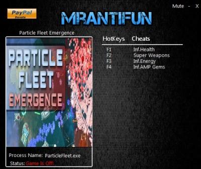 Particle Fleet Emergence cheats
