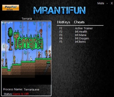 Terraria v1.3.4 cheats