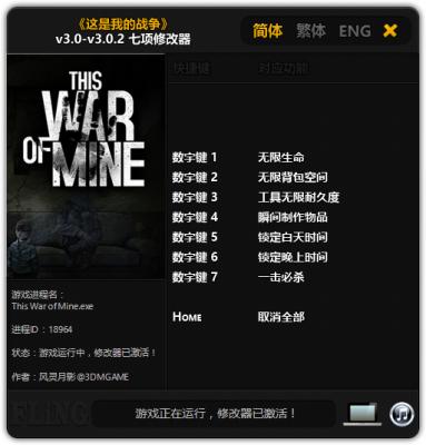 This War of Mine v3.0.2 cheats