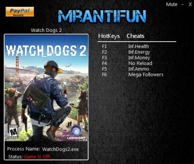 Watch Dogs 2 - Trainer