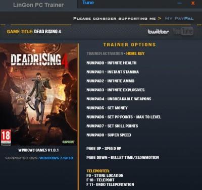 Dead Rising 4 cheats