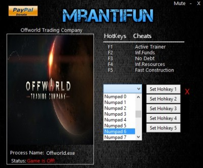 Offworld Trading Company cheats