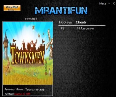 Townsmen cheats