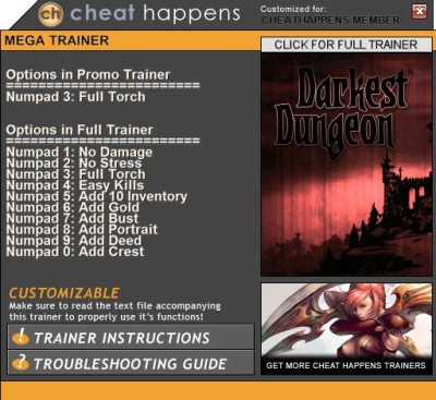 Darkest Dungeon cheats