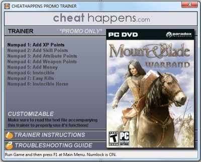 Mount & Blade Warband cheats