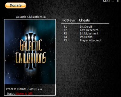Galactic Civilizations 3 cheats